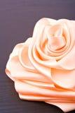 почерните розовую сатинировку Стоковые Изображения