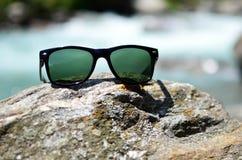 почерните солнечные очки Стоковые Фотографии RF
