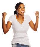 почерните счастливую женщину Стоковое Изображение
