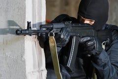 почерните форму воина винтовки Стоковое Изображение RF