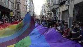 Почетность март LGBTI пока парк Gezi протестует видеоматериал