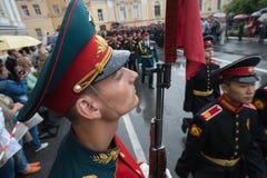 Почетный караул военного округа северо-западной России стоковая фотография rf