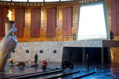 Почетный караул и вечное пламя Волгоград, Россия Стоковое Фото