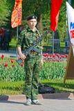 Почетный караул кадета на переулке героев в Волгограде Стоковая Фотография RF