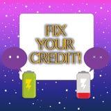 Починка текста сочинительства слова ваш кредит Концепция дела для фиксировать плохое положение кредита ухудшила различные причины бесплатная иллюстрация