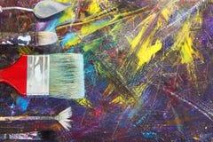 Почистьте щеткой для того чтобы покрасить изображение щетки проверяют иллюстрации конструкции больше моего портфолио краски пожал Стоковое Изображение RF