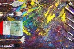 Почистьте щеткой для того чтобы покрасить изображение щетки проверяют иллюстрации конструкции больше моего портфолио краски пожал Стоковое Фото