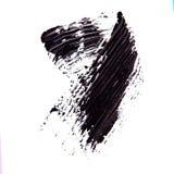 Почистьте strok щеткой черной тени туши на белизне Стоковые Изображения