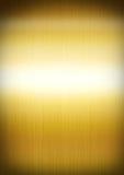 Почищенная щеткой золотом текстура предпосылки металла Стоковое Изображение