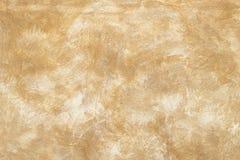 Почищенная щеткой коричневая стена Стоковые Фотографии RF
