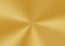 почищенная щеткой круговая текстура металла Стоковая Фотография RF