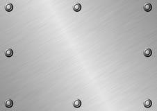 Почищенная щеткой поверхность металла Стоковая Фотография RF