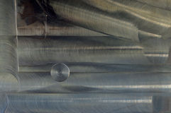 Почищенная щеткой предпосылка конспекта текстуры металла Стоковые Изображения