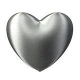 почищенная щеткой сталь влюбленности сердца сильная Стоковое фото RF