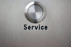 почищенная щеткой сталь обслуживания кнопки Стоковые Изображения