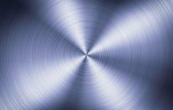 Почищенная щеткой текстура металла круглая Стоковое фото RF