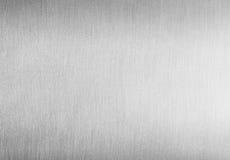 Почищенная щеткой чистая предпосылка металла Стоковая Фотография RF