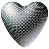 Почищенное щеткой изолированное сердце металла Стоковое Изображение RF