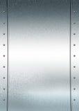 почищенное щеткой металлопластинчатое Стоковая Фотография RF