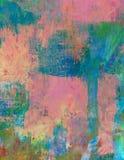 Почищенное щеткой пастелью резюмированное искусство выплеска акварели Стоковая Фотография RF