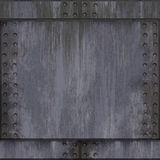 почищенный щеткой алюминий заклепанным Стоковое Изображение