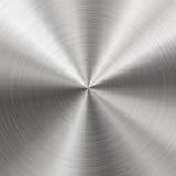 Почищенный щеткой металл, радиальная текстура Стоковые Фотографии RF