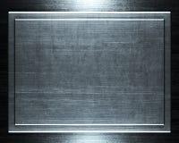 почищенный щеткой предпосылкой серебр металла Стоковое Фото