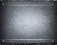 почищенный щеткой предпосылкой серебр металла Стоковая Фотография