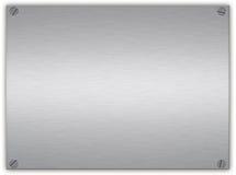 почищенный щеткой серебр металлической пластинкы Стоковые Изображения RF