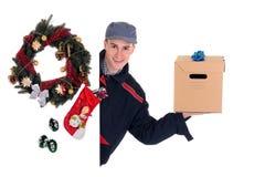 почтальон поставки рождества Стоковые Фотографии RF