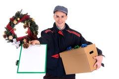 почтальон поставки рождества Стоковое Фото