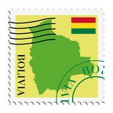 почта Боливии к Стоковое Изображение