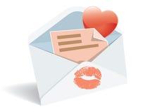 почта влюбленности иллюстрация штока