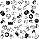 почта икон предпосылки Стоковая Фотография