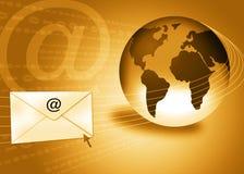 почта интернета электронной почты принципиальной схемы Стоковая Фотография