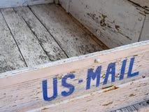 почта коробки старая мы стоковое изображение rf