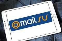 почта Логотип компании интернета Ru Стоковые Изображения RF