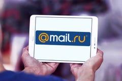 почта Логотип компании интернета Ru Стоковое Изображение RF