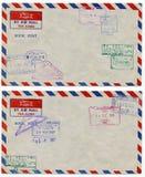 почта предпосылки воздуха Стоковые Фотографии RF