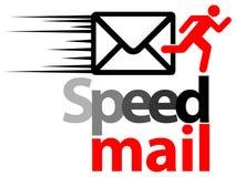 Почта скорости иллюстрация штока