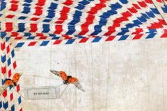 Почта - сообщение - память - год сбора винограда влюбленности Стоковые Изображения