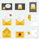 Почта, сообщение, письмо иллюстрация штока
