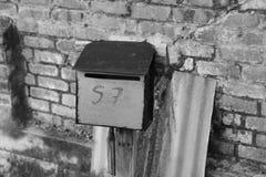 Почта столба от прошлого стоковое фото rf