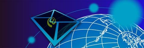 почта banner2 Стоковое Изображение RF