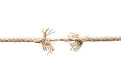 Почти сорванная веревочка Стоковые Фото
