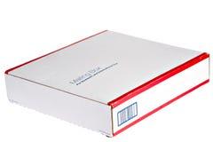почтовая отправка коробки emplty Стоковое фото RF