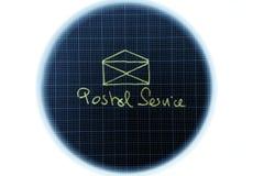 почтовая служба иконы иллюстрация вектора