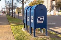 3 почтового ящика на улице города Стоковые Изображения RF