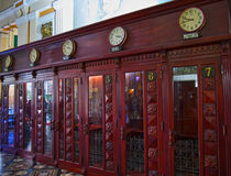 Почтовое отделение Хошимин телефонных будок стоковое изображение rf