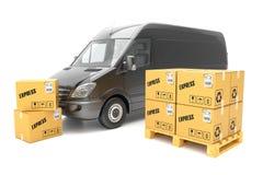 Почтовые ящики в автомобиле для транспорта иллюстрация штока